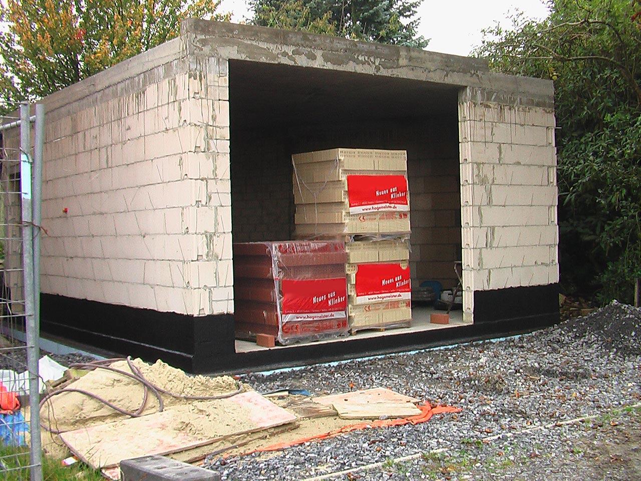 Anbau / Neubauarbeiten einer Garage