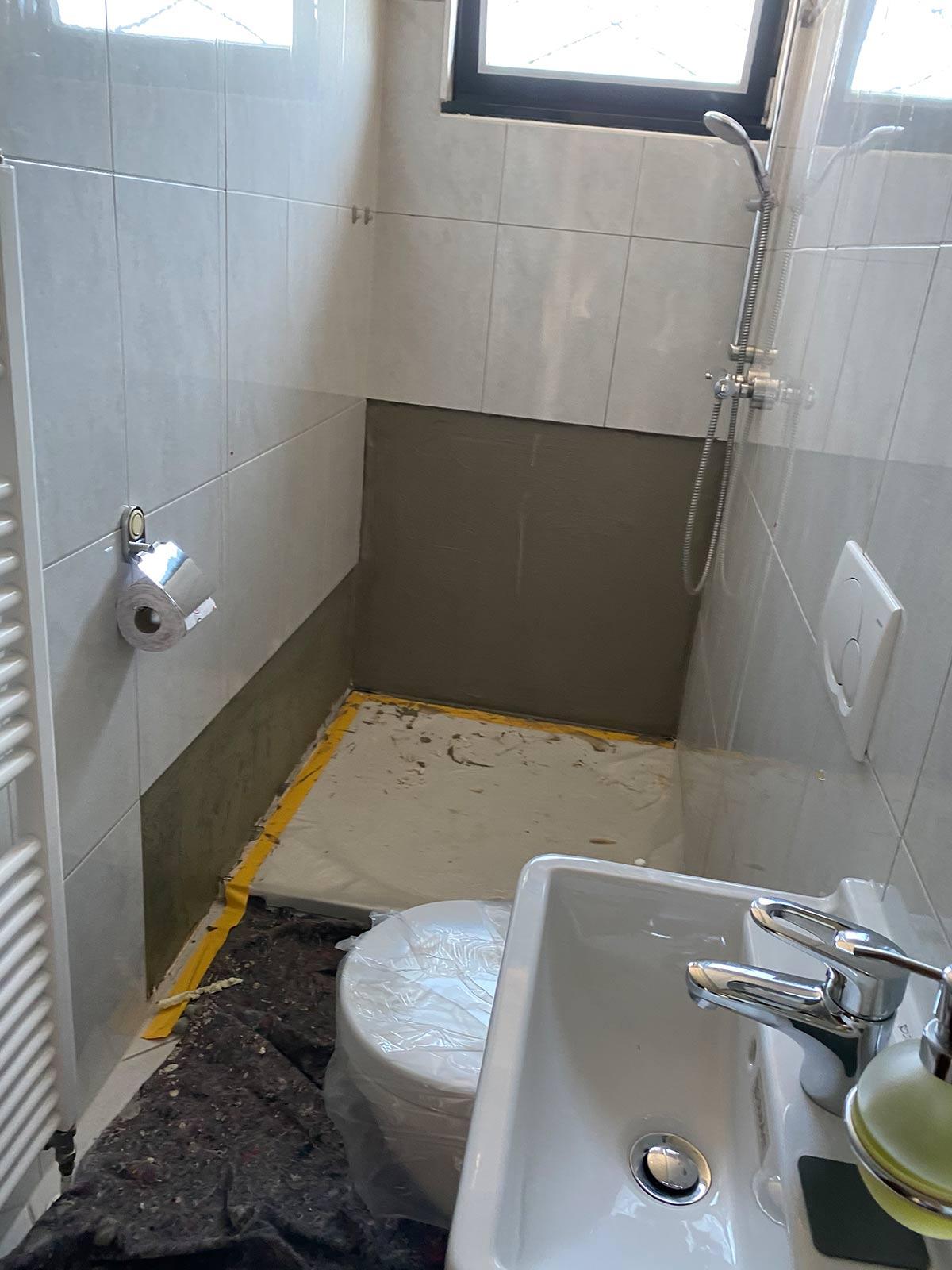 Sanierungsarbeiten nach Wasserschaden